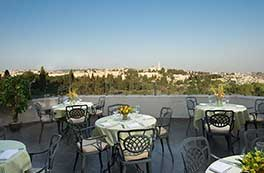 Inbal Jerusalem Hotel - patio with view
