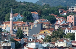 Old Plovdiv Cityscape