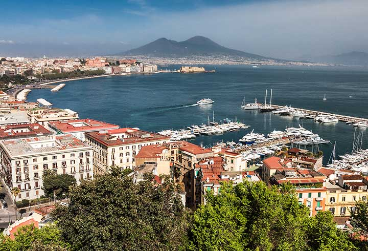 Jewish Heritage Travel to Naples with Mount Vesuvius
